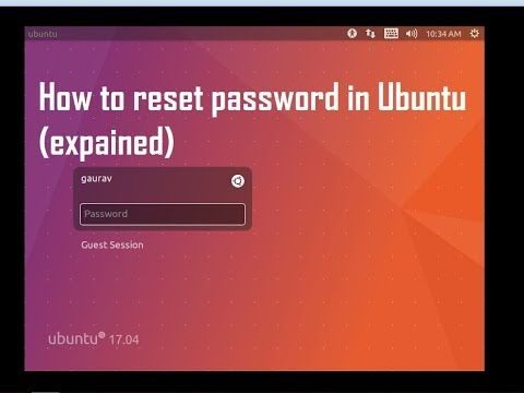 how to reset / recover password in ubuntu 16.04 (100 % working)
