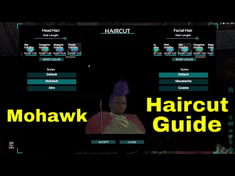 ARK Haircut guide - First time using the Scissor - Mohawk and coloring my own hair