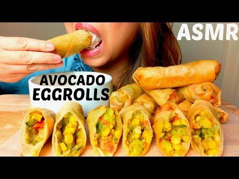 *CRUNCHY* ASMR DIY Cheesecake Factory Avocado EGG ROLLS🥑+ RANCH 먹방 (+recipe) *No Talking*