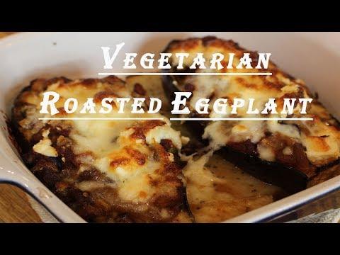 Greek Style - Vegetarian Stuffed Eggplant: Veg. Melitzanes Papoutsakia
