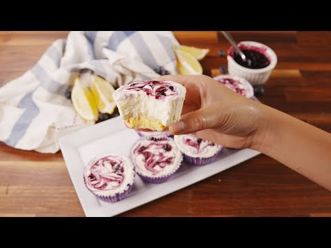 Lemon Blueberry Cheesecakes | Delish