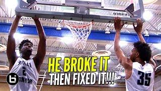 Cody Riley BREAKS The Backboard & Then FIXES IT! UCLA