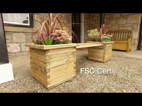 Zest4Leisure - Isabel planter Bench