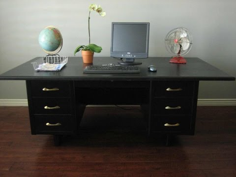 Black Wooden Desks