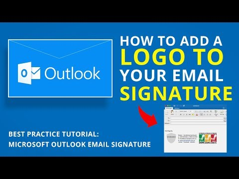 HOW TO ADD A LOGO TO YOUR EMAIL SIGNATURE | Microsoft Outlook Tutorial