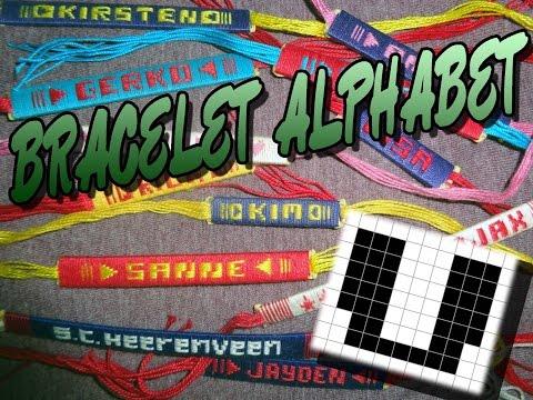 Friendship Bracelet Crochet Yarn, Alphabet: Letter V