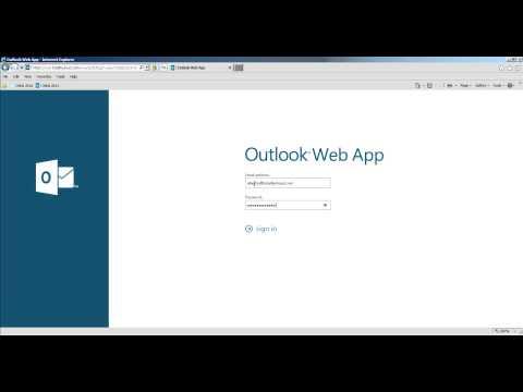 How to change password in Outlook 2013 Web Platform