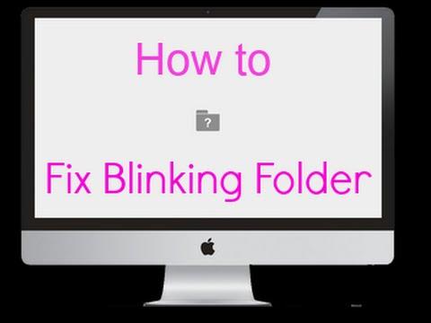 How to fix the apple blinking folder