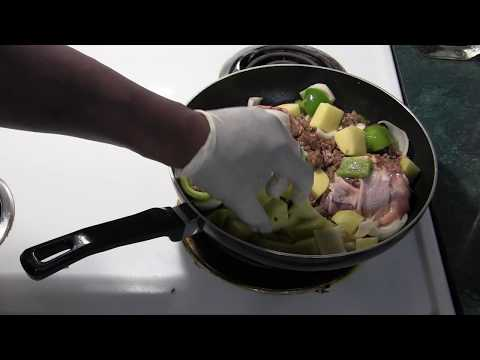 how to make awesome Roasted Chicken ( with peppers onions potatoes and sausage. )