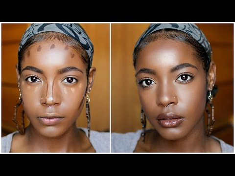 Makeup 101: How To Highlight + Contour Round/Oval Face With No Cheekbones For Beginners