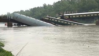 Eight killed as train falls into canal in Pakistan