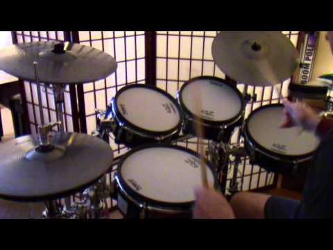 TD30 KV Play Along In 7/4 and 4/4 Practicing Double Bass 3 Stroke Ruff