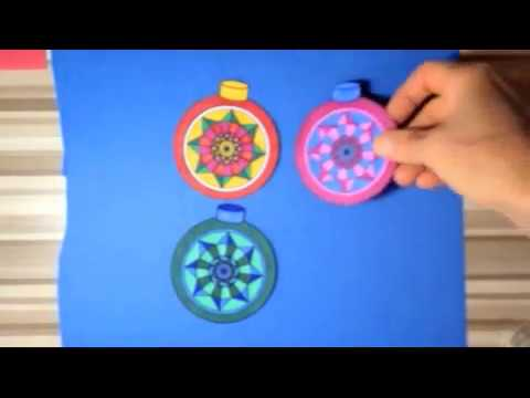 How to make three dimensional 3D paper Christmas ornaments