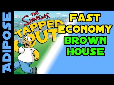 Simpsons Tapped Out-Fast Economy-The Brown House