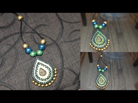 Terracotta Pendant Making    Terracotta Pendant Designs    Terracotta Jewelry Making  