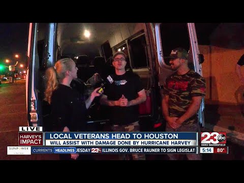 Local veterans heading to Houston to help with Hurricane Harvey victims