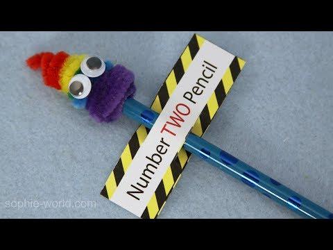 How to Make a Rainbow Poop Emoji Pencil | Sophie's World