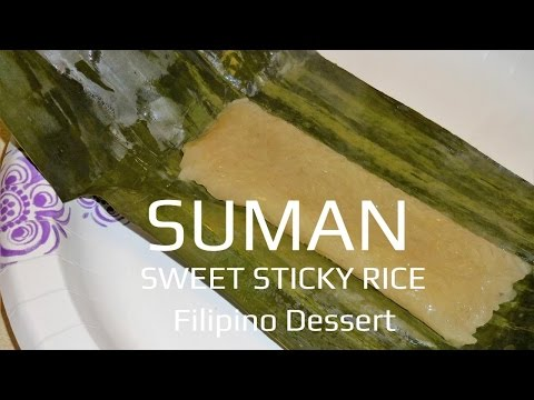 Suman Kakanin Sweet Sticky Rice Filipino Dessert