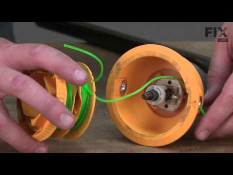 Ryobi Trimmer Repair - How to replace the Reel and Line Assembly