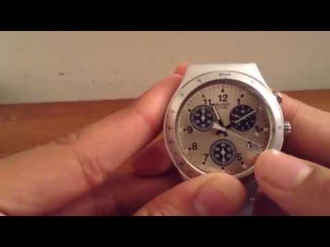 How to use the chronograph features on a watch and how to reset the hands
