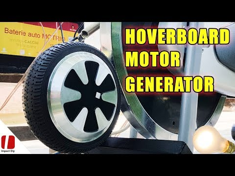 How To Make a Generator At Home Easy With Hoverboard Motor And Fitness Bike