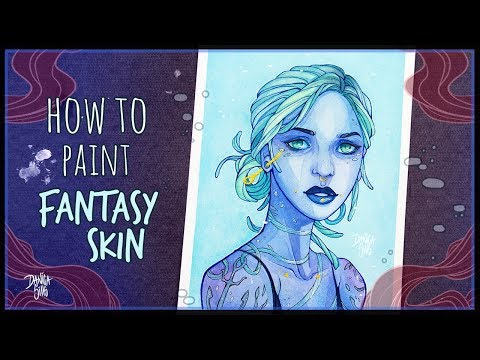 How to Paint Fantasy Skin • MARITIME • Watercolor Painting