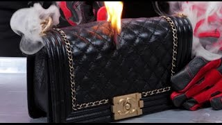 Jeffrey Star SLICES Chanel Bag With Glowing Hot Knife | What