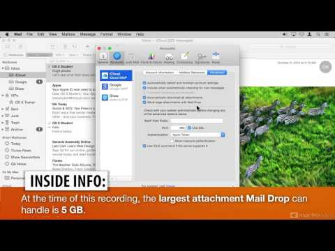 OS X Yosemite 104: Mail and Calendar Toolbox - 19. Large Attachments  Mail Drop