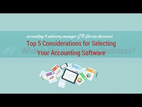 Top 5 Considerations For Selecting Your Accounting Software