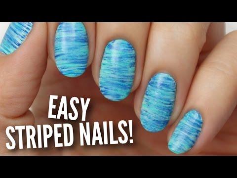 Easy Striped Nail Art