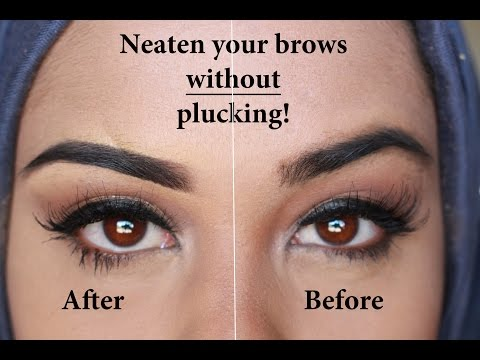 Neaten your eyebrows without plucking!!