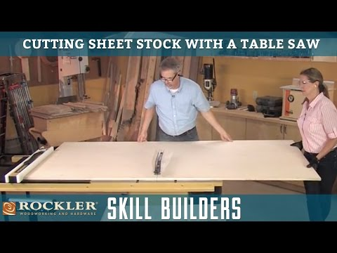 Cutting Large Sheet Stock on a Table Saw | Rockler Skill Builders