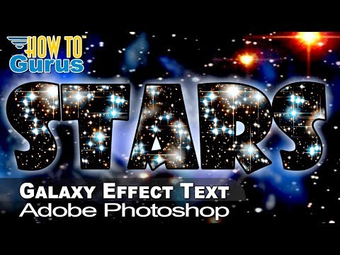 How to Make a Nebula and Stars Text Effect in Adobe Photoshop CS5 CS6 CC Tutorial