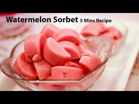 Summer Special Watermelon sorbet recipe in Hindi