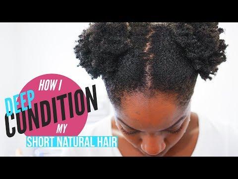 How I Deep Condition My Short Natural Hair (4B/4C Hair Texture) (PART 2)