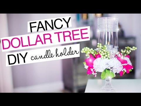 DOLLAR TREE FANCY CANDLE HOLDER | DIY