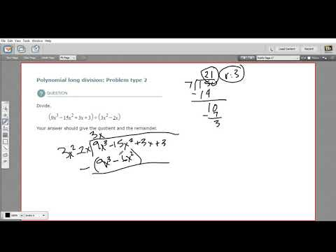 Polynomial long division - problem type 2