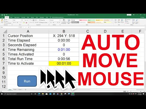 How to move the mouse cursor automatically with Excel