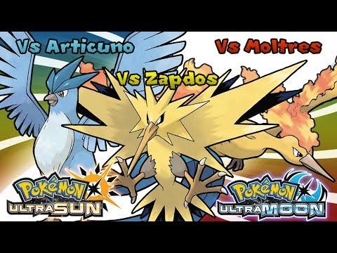 Pokemon UltraSun & UltraMoon - Battle! Articuno Zapdos Moltres Music (HQ)
