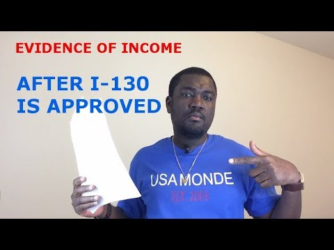 EVIDENCE OF INCOME (AFTER I-130 IS APPROVED)