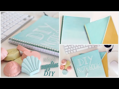 DIY Back To School Supplies | Notebooks, Chalk Paint and more! #1