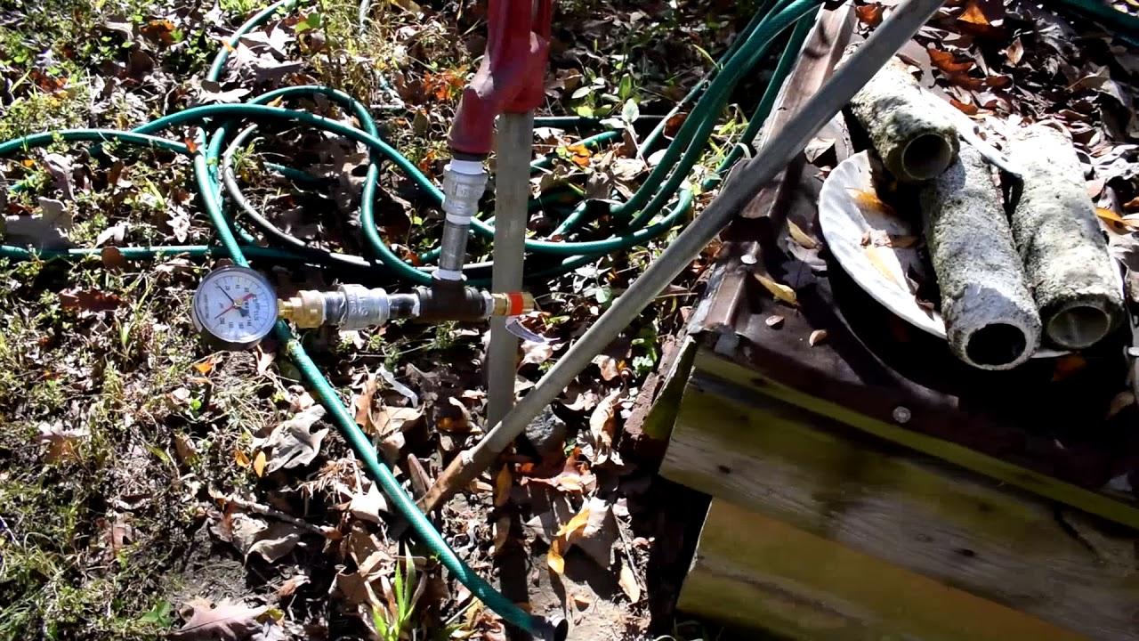 Easy way to find a broken main (underground) water line.