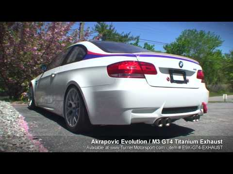 E92 M3 GT4 - Akrapovic Evolution Titanium Exhaust