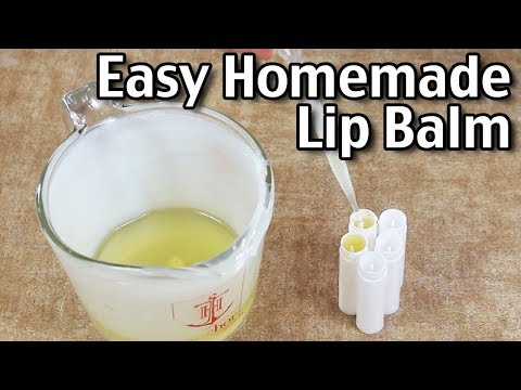 How To Make Easy Homemade Lip Balm! Beeswax Lip Balm Recipe