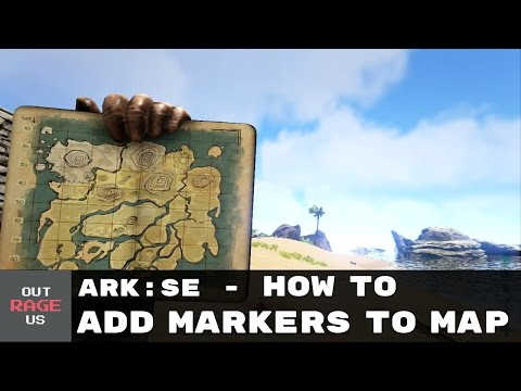 ARK: Survival Evolved - How to place a Map Marker I Navigation Tutorial (Xbox)