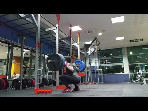 Squat dropset 140, 120, 100kg 15 reps.