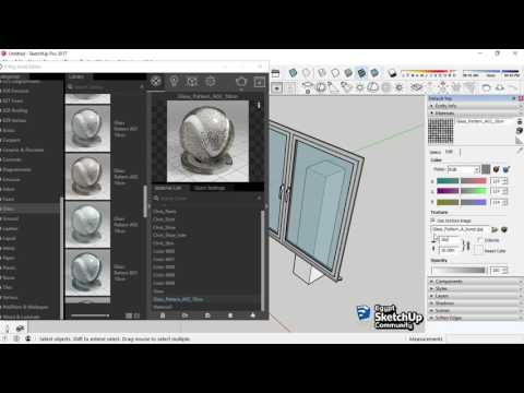 Glass Transparency | V-Ray material | SketchUp