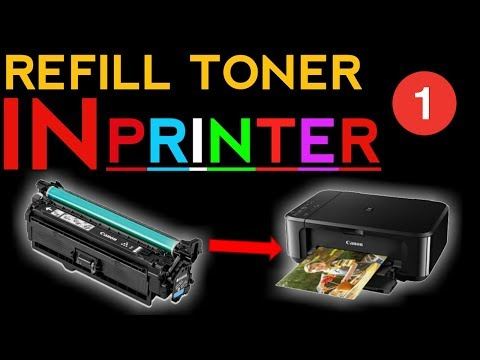 how to refill laser printer toner cartridge Hp & Canon part 1