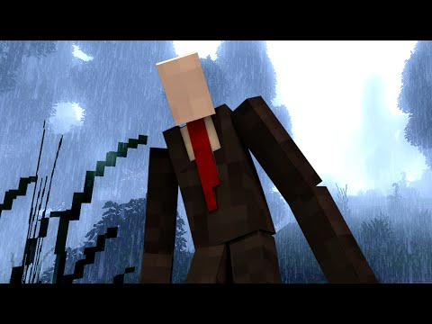 SLENDER - A FACELESS MAN IS AFTER US! | Minecraft