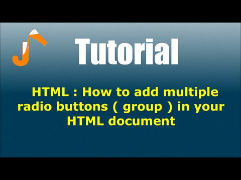 HTML : How to add multiple radio buttons ( group ) in your HTML document